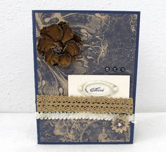 Any Occasion Card  Vintage Style  Blank Card  by PrettyByrdDesigns