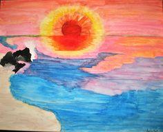Westcoast Wildfire original watercolor!