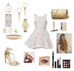 """""""Blind Date"""" by gissellembusto on Polyvore featuring moda, Alex Perry, Jessica Simpson, Charlotte Russe, Alexis Bittar, Chanel, Kate Spade, MICHAEL Michael Kors, By Terry y Yves Saint Laurent"""