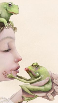 Artworks by Roger Olmos Man Beast, Frog Art, Frog And Toad, Book Cover Design, Prince Charming, Types Of Art, Aurora Sleeping Beauty, Artsy, Frogs