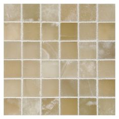 "Complete Tile Collection, 3/4"" Square Mosaic, MI#: 111-S2-400-615, Color: White Vanilla Premium Onyx - Polished"