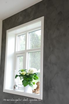 Pure & Original Fresco Lime Paint, colour 'Thunder Sky'.