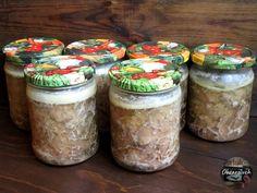 Mięso w słoikach - przysmak Taty Mason Jars, Curry, Pasta, Canning, Meat, Healthy, Recipes, Food, Dinners