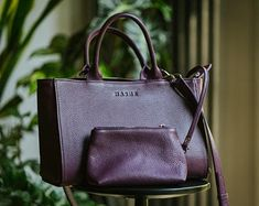 Leather Handmade Bags made in Poland. ze sklepu NasheLeatherBags na Etsy