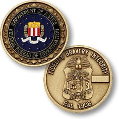 Federal Bureau of Investigation FBI Challenge Coin Grimm, Military Challenge Coins, Us Marshals, Military Pins, Law And Justice, Federal Bureau, Police Vehicles, Military Insignia, Federal Agencies