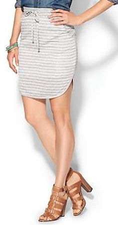 heather grey striped skirt  http://rstyle.me/~2mfWQ