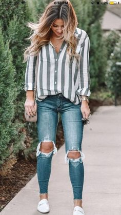 Classy school outfits, college outfits, fall tomboy outfits, women casual o Classy School Outfits, Spring Outfits For School, Trendy Outfits, Fall Outfits, Spring School, Casual Summer Outfits With Jeans, Cute Jean Outfits, Tomboy Outfits, Fashionable Outfits