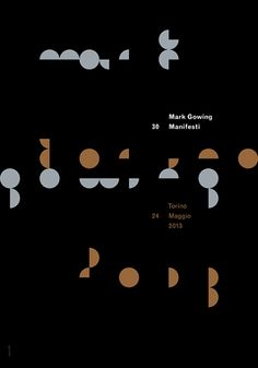 Mark Gowing, posters for Personal Exhibitions