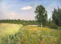 Isaac Levitan. Summer.(Born: August 30, 1860, Kybartai, Lithuania Died: August 4, 1900, Moscow, Russia) (1860-1899)-?