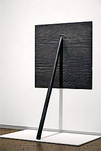 Richard Serra, Prop, 1968. The sculpture, which is entirely made of lead, is over 8 feet tall.