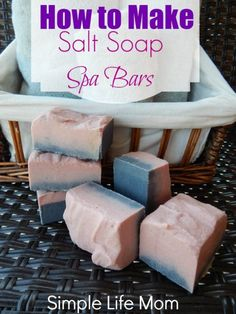 How to Make Natural Salt Soap Bars: I discussed the 8 Reasons Salt Soaps are Fabulous for the Skin. If you need some motivation to give these fun bars a try, then check that out. Today, I want to cover How to Make Natural Salt Soap Bars. Spa Bar, Savon Soap, Natural Salt, Natural Life, Natural Living, Natural Beauty, Soap Making Supplies, Homemade Soap Recipes, Milk Soap