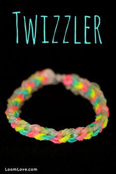 How to Make a Rainbow Loom Twizzler Bracelet