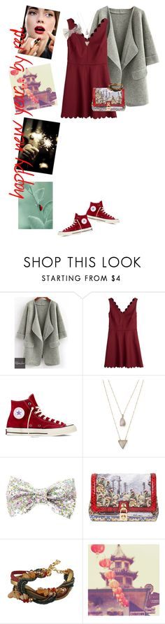"""""""#250 [ Happy new year with red ]"""" by valentine-bk ❤ liked on Polyvore featuring Relaxfeel, RED Valentino, Converse, Panacea and Dolce&Gabbana"""