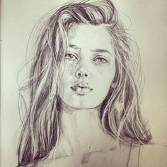 Pencil portrait drawing by Victoria Jones Pencil Portrait, Portrait Art, Art Sketches, Art Drawings, Sketchbook Drawings, Sketching, Face Sketch, Realistic Drawings, How To Draw Hair