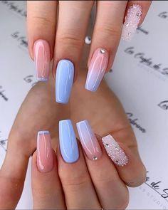 Acrylic Nails Almond Shape, Best Acrylic Nails, Cute Acrylic Nail Designs, Toe Nail Designs, Hot Nails, Swag Nails, Stylish Nails, Trendy Nails, Sweet 16 Nails