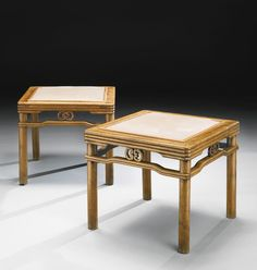 A LARGE PAIR OF HUANGHUALI 'BAMBOO' STOOLS (FANGDENG), QING DYNASTY, 18TH CENTURY | Lot | Sotheby's