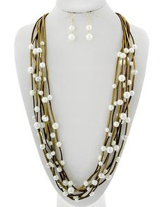 Leather And Pearls Statement Set U2013 Shop LuLu