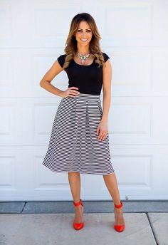 Striped Skirt   Jane
