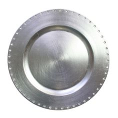 "The Jay Companies 13"" Round Silver Jeweled Rim Polypropylene Charger Plate $2.99"