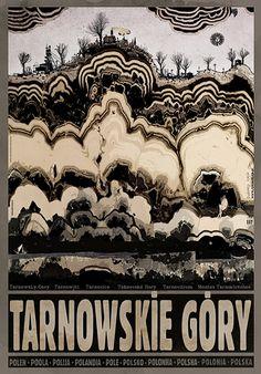 Tarnowskie Góry, Polish Promotion Poster designed by artist Ryszard Kaja. Art Deco Posters, Illustrations And Posters, Painting, Polish Posters, Illustration Art, Poster Art, Art, Poster Design, Art Center