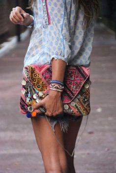 Colourful clutch