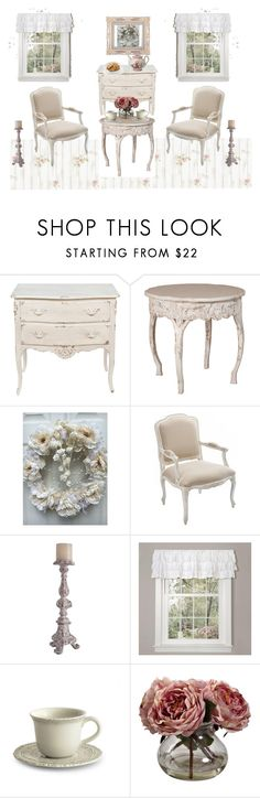 """""""Friday Afternoon Tea for Two"""" by bscozycottagecrafts on Polyvore featuring interior, interiors, interior design, home, home decor, interior decorating, Lush Décor, Arte Italica, Nearly Natural and vintage"""