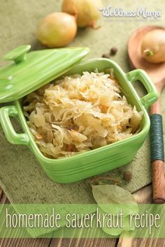 How to make traditional lacto-fermented homemade Sauerkraut. An excellent source of probiotics and enzymes for gut health.