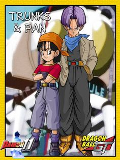 Trunks and Pan for Pinklilac2 - Visit now for 3D Dragon Ball Z compression shirts now on sale! #dragonball #dbz #dragonballsuper