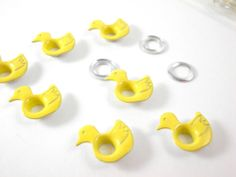 50 PC-3/16 yellow duck eyelets for scrapbooking,craft,sewing project and much more