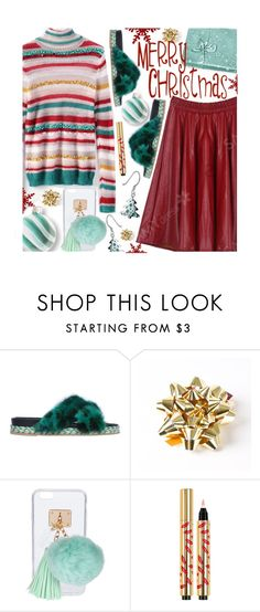 """""""Merry Christmas!!!"""" by beebeely-look ❤ liked on Polyvore featuring Mr & Mrs Italy, Ashlyn'd, Christmas, NewYears, Sweater, sammydress and holidaystyle"""