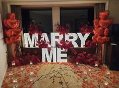 Romantic Room Surprise, Romantic Proposal, Wedding Proposals, Marriage Proposals, Engagement Couple, Wedding Engagement, Marquee Lights, Let's Get Married, Wedding With Kids