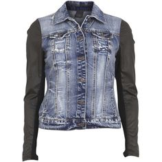 Object Collectors Item Cool Denim Jacket Rpt Ch 66 ($110) ❤ liked on Polyvore