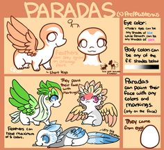 :Paradas(open species): by PrePAWSterous on DeviantArt Mythical Creatures Art, Cute Creatures, Magical Creatures, Fantasy Creatures, Animal Sketches, Animal Drawings, Cute Drawings, Pokemon, Creature Drawings