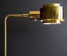 Koch+Lowy Mid-Century Dbl-Shade Floor Lamp
