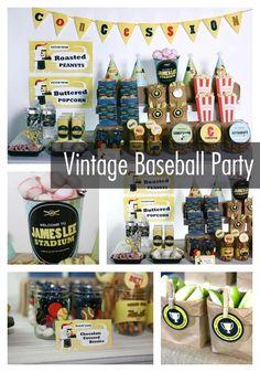 Baseball Party Dessert Table for Boys www.spaceshipsandlaserbeams.com