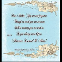 Missing My father in Heaven