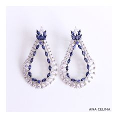 Tanzanita.  Apaixonada por esses brincos!  #lojaanacelina #anacelinasemijoias #glamour #semijoias #semijoiasdeluxo #brincos #acessorios #jewelry #novacolecao #luxo #top #presenteparaela #tanzanita #joinha #festa