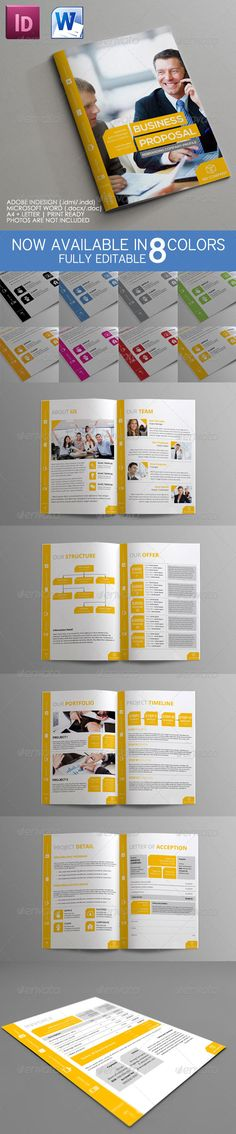 Buy Mini Proposal Template by binangkit on GraphicRiver. Mini Proposal Clean Business Proposal for multipurpose use, quality design, clean, professional, and modern. Company Profile Design, Business Proposal, Self Promotion, Proposal Templates, Proposals, Letter Logo, Editorial, Stationery, Lettering