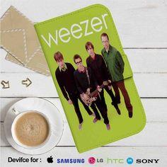 Weezer Leather Wallet iPhone 4/4S 5S/C 6/6S Plus 7  Samsung Galaxy S4 S5 S6 S7 NOTE 3 4 5  LG G2 G3 G4  MOTOROLA MOTO X X2 NEXUS 6  SONY Z3 Z4 MINI  HTC ONE X M7 M8 M9 CASE