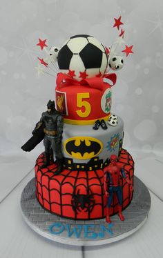 Marvel superheroes Birthday cake