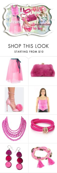 """""""Color Me Pretty:Head to Toe PINK !"""" by kareng-357 ❤ liked on Polyvore featuring Marc Jacobs, Privileged, Lillie Rubin, Humble Chic, de Grisogono, Encanto and New Directions"""