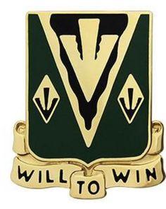 635th Armor Regiment Unit Crest (Will to Win)