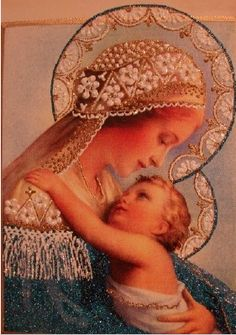 """Blue Madonna"" ~ by Irena Jakus xx Woman as mother the most powerful ever!"