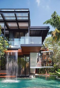 Small House Design, Modern House Design, Sustainable Architecture, Modern Architecture, Shipping Container Home Designs, Shipping Containers, Shipping Container Pool, Pool House Plans, Building A Container Home