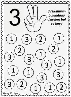 #üç #rakam #üçrakamı #okulöncesi #etkinlik #matematik #3 Fall Preschool Activities, Free Kindergarten Worksheets, Preschool Writing, Numbers Preschool, Phonics Worksheets, Toddler Learning Activities, Kindergarten Lessons, Teaching Kids, Montessori Math