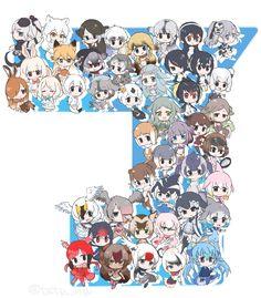 6+girls :3 ^_^ alaskan_sea_otter_(kemono_friends) animal_ears arctic_fox_(kemono_friends) arctic_hare_(kemono_friends) baikal_seal_(kemono_friends) bearded_seal_(kemono_friends) black_swan_(kemono_friends) blue_whale_(kemono_friends) blush california_sea_lion_(kemono_friends) chibi chinese_white_dolphin_(kemono_friends) closed_eyes common_bottlenose_dolphin_(kemono_friends) common_dolphin_(kemono_friends) dugong_(kemono_friends) egyptian_goose_(kemono_friends)…