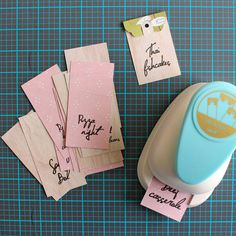 Tags by @chantallemcd using the DIY Party Tag Punch from @wermemorykeepers