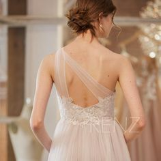 Wedding Dress Off White Tulle Bridal Dress One Shoulder Beach Wedding Dress Illusion Sweetheart Champagne Wedding Gown with Long Tulle Balls, Tulle Ball Gown, Ball Gowns, Bridal Dresses, Wedding Gowns, Bridesmaid Dresses, White Tulle, White Lace, Champagne Wedding