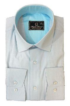 Синяя рубашка в полоску по супер выгодной цене 3900 руб руб, с бесплатной доставкой по Москве и России без предоплаты. В наличие размеры S, XL, M, 2XL, L, приезжайте к нам в магазин!