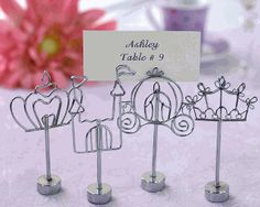 Cinderella 'Happily Ever After' Place Card Holders...